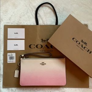 COACH Pink Ombré Clutch/Wristlet